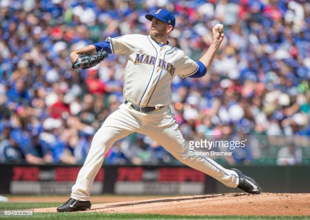 Starter James Paxton of the Seattle Mariners delivers a pitch during the first inning of a game against the Toronto Blue Jays at Safeco Field on June...