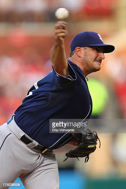 Starter Jason Marquis of the San Diego Padres pitches against the St Louis Cardinals at Busch Stadium on July 19 2013 in St Louis Missouri