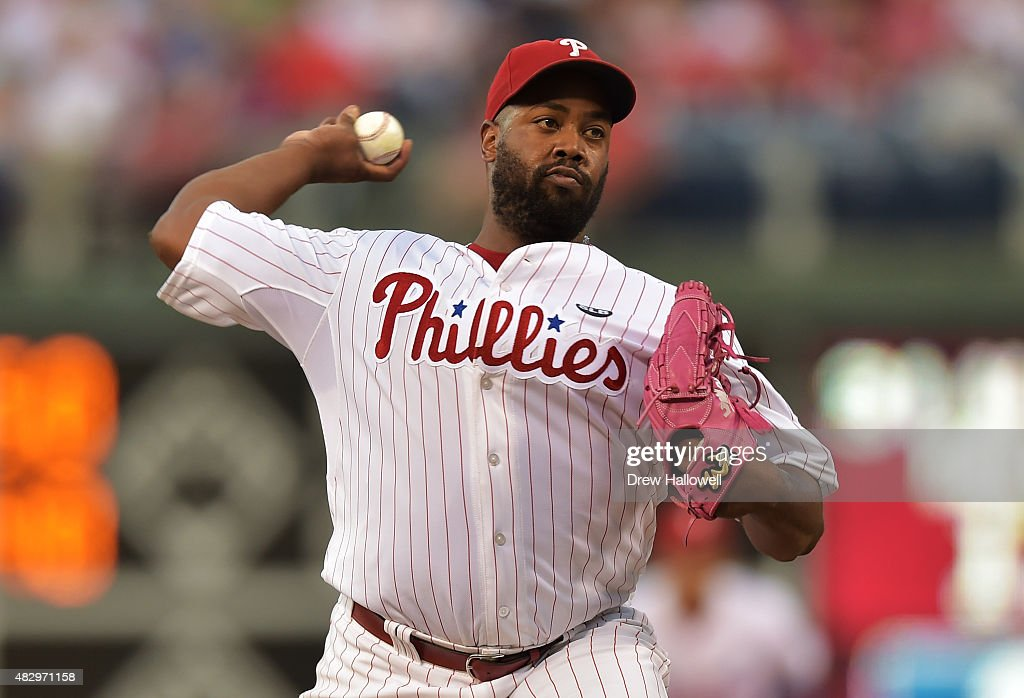Starter Jerome Williams #31 of the Philadelphia Phillies delivers a pitch in the second inning at Citizens Bank Park on August 4, 2015 in Philadelphia, Pennsylvania.