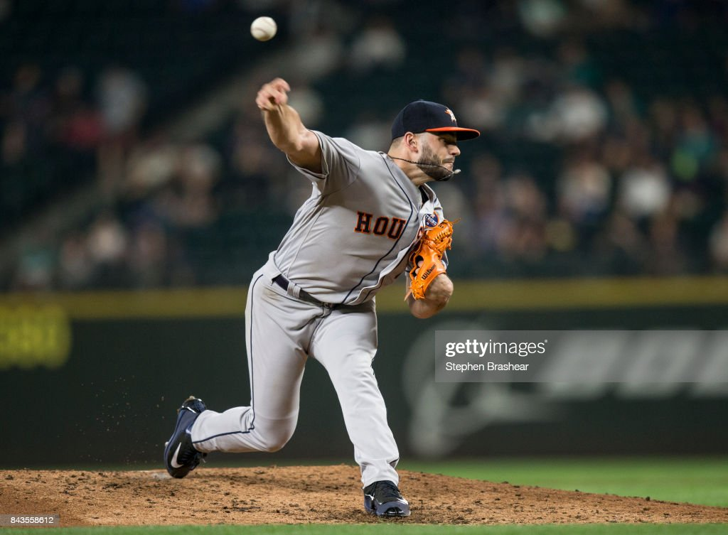 Starter Lance McCullers Jr. of the Houston Astros delivers a pitch during the fifth inning of a game against the Seattle Mariners at Safeco Field on September 6, 2017 in Seattle, Washington. The Astros won 5-3.