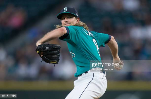 Starter Mike Leake of the Seattle Mariners delivers a pitch during the second inning of a game against the Oakland Athletics at Safeco Field on...