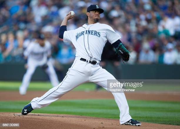 Starter Yovani Gallardo of the Seattle Mariners delivers a pitch during the first inning of a game against the Chicago White Sox at Safeco Field on...