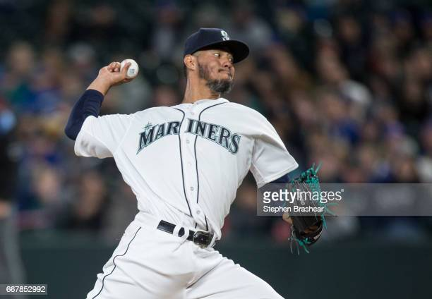 Starter Yovani Gallardo the Seattle Mariners delivers a pitch during the first inning of a game against the Houston Astros at Safeco Field on April...