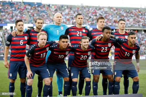 Starters for the United States before an international friendly between the United States and Ghana on July 1 at Pratt Whitney Stadium at Rentschler...