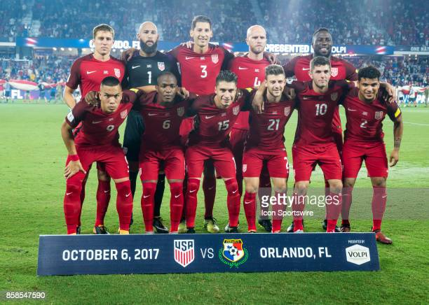 Starting 11 US MNT during the World Cup Qualifier soccer match between the USA Mens National Team and Panama National Team on September 6 2017 at...