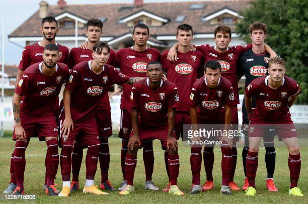 GOIA VOLPIANO TURIN ITALY Starting eleven of Torino FC U19 pose for a team photo prior to the Primavera TIM Cup football match between Torino FC U19...
