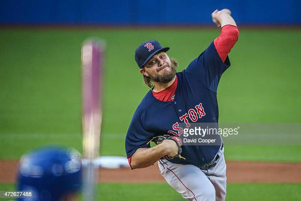 TORONTO ON MAY 8 Starting for Boston Wade Miley throws from the mound during the game between the Toronto Blue Jays and the Boston Red Sox at the...