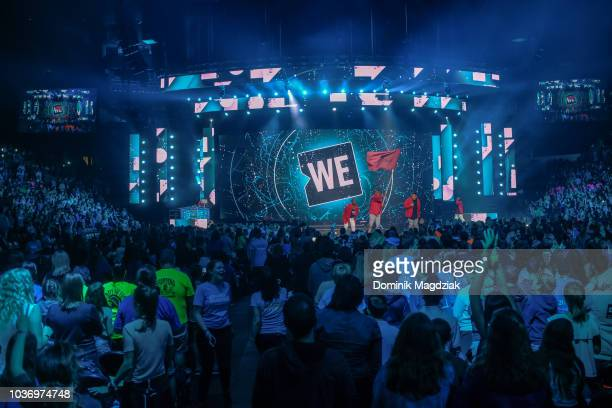 DJ Starting From Scratch Lissa Monet Kardinal Offishall Cipha Sounds and Dready of Celebrity Marauders host the 2018 WE Day Toronto Show at...