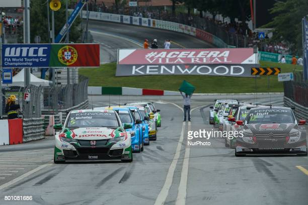 Starting grid during the Race 2 of FIA WTCC 2017 World Touring Car Championship Race of Portugal, Vila Real, June 25, 2017.
