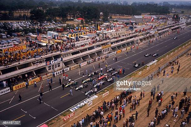 Starting grid of the French Grand Prix Le Mans 1967 The race was held for the first time at the new Bugatti au Mans circuit which used the famous...
