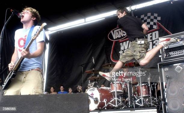 Starting Line performs at the 2003 Vans Warped Tour on Randall's Island on August 9 2003 in New York City