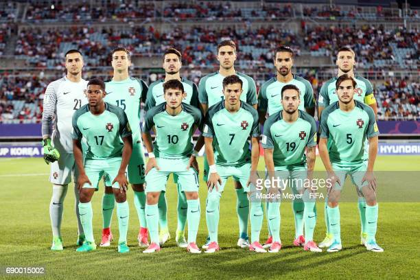 Starting lineup of Portugal before the FIFA U20 World Cup Korea Republic 2017 Round of 16 match between Korea Republic and Portugal at Cheonan...