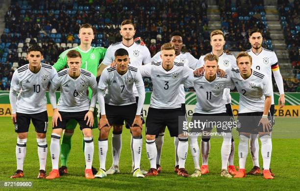 Starting lineup of team Germany prior the Under 20 International Friendly match between U20 of Germany and U20 of Italy at community4you Arena on...