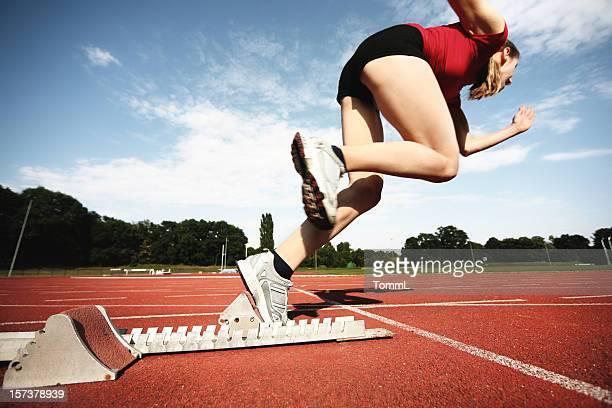 starting. - atlete stockfoto's en -beelden
