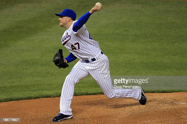 Starting pitcher Aaron Laffey of the New York Mets delivers against the Colorado Rockies at Coors Field on April 16 2013 in Denver Colorado