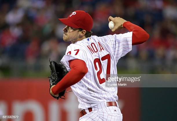 Starting pitcher Aaron Nola of the Philadelphia Phillies throws a pitch in the third inning during a game against the Cincinnati Reds at Citizens...