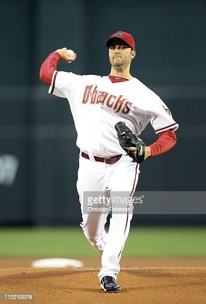 Starting pitcher Armando Galarraga of the Arizona Diamondbacks pitches against the St Louis Cardinals during the Major League Baseball game at Chase...