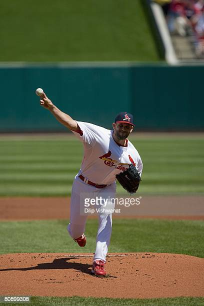 Starting pitcher Braden Looper of the St Louis Cardinals throws against the San Francisco Giants on April 20 2008 at Busch Stadium in St Louis...