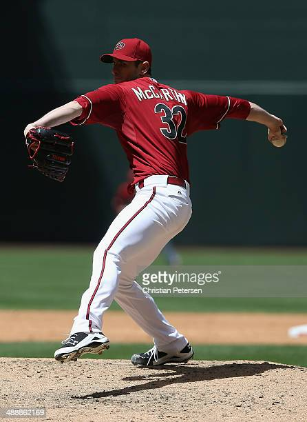 Starting pitcher Brandon McCarthy of the Arizona Diamondbacks against the Philadelphia Phillies during the MLB game at Chase Field on April 27 2014...