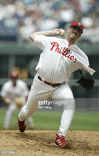 Starting pitcher Brett Myers of the Philadelphia Phillies delivers against the Detroit Tigers during the interleague game at Citizens Bank Park on...