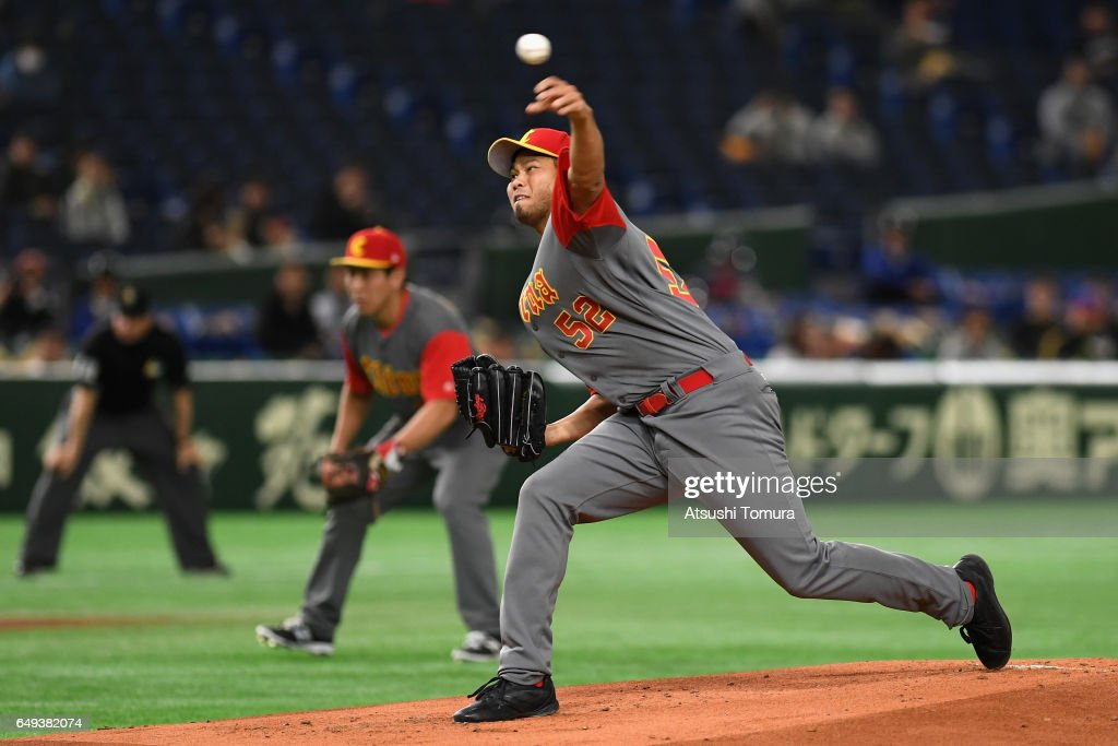 World Baseball Classic - Pool B - Game 2 - China v Cuba : Foto di attualità