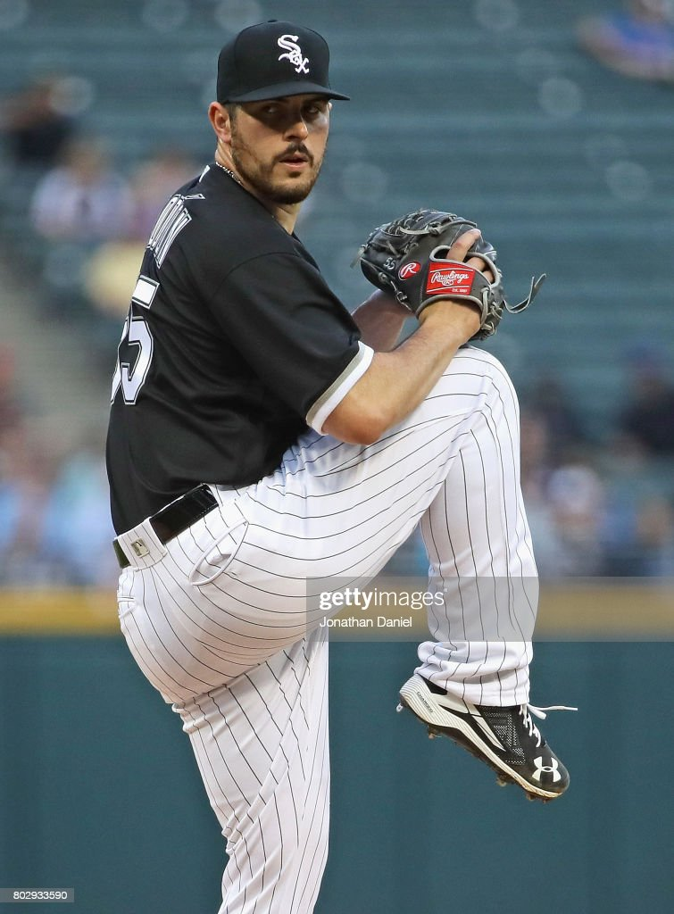 Starting pitcher Carlos Rodon #55 of the Chicago White Sox delivers the ball against the New York Yankees at Guaranteed Rate Field on June 28, 2017 in Chicago, Illinois.