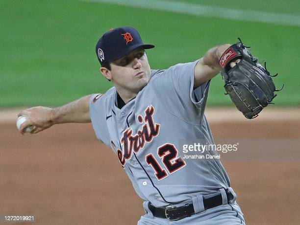 Starting pitcher Casey Mize of the Detroit Tigers delivers the ball against the Chicago White Sox at Guaranteed Rate Field on September 11, 2020 in...