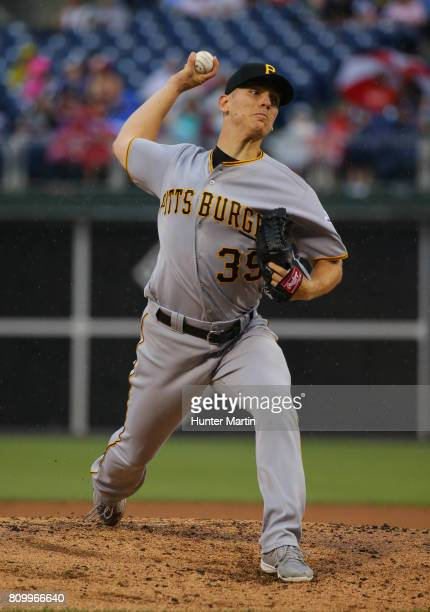 Starting pitcher Chad Kuhl of the Pittsburgh Pirates throws a pitch in the second inning during a game against the Philadelphia Phillies at Citizens...