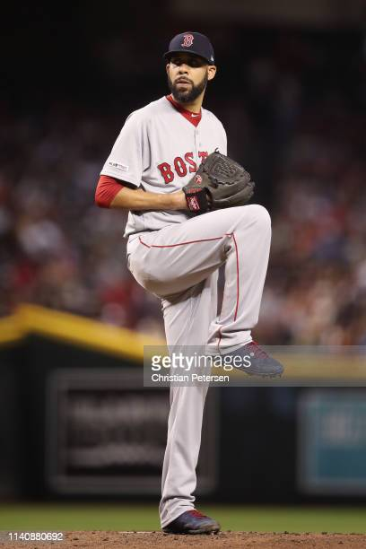 Starting pitcher David Price of the Boston Red Sox pitches against the Arizona Diamondbacks during the first inning of the MLB game at Chase Field on...