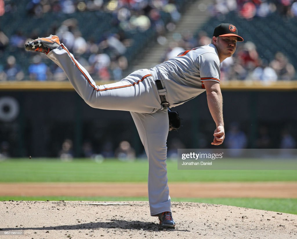 Starting pitcher Dylan Bundy #37 of the Baltimore Orioles delivers the ball against the Chicago White Sox at Guaranteed Rate Field on May 24, 2018 in Chicago, Illinois.