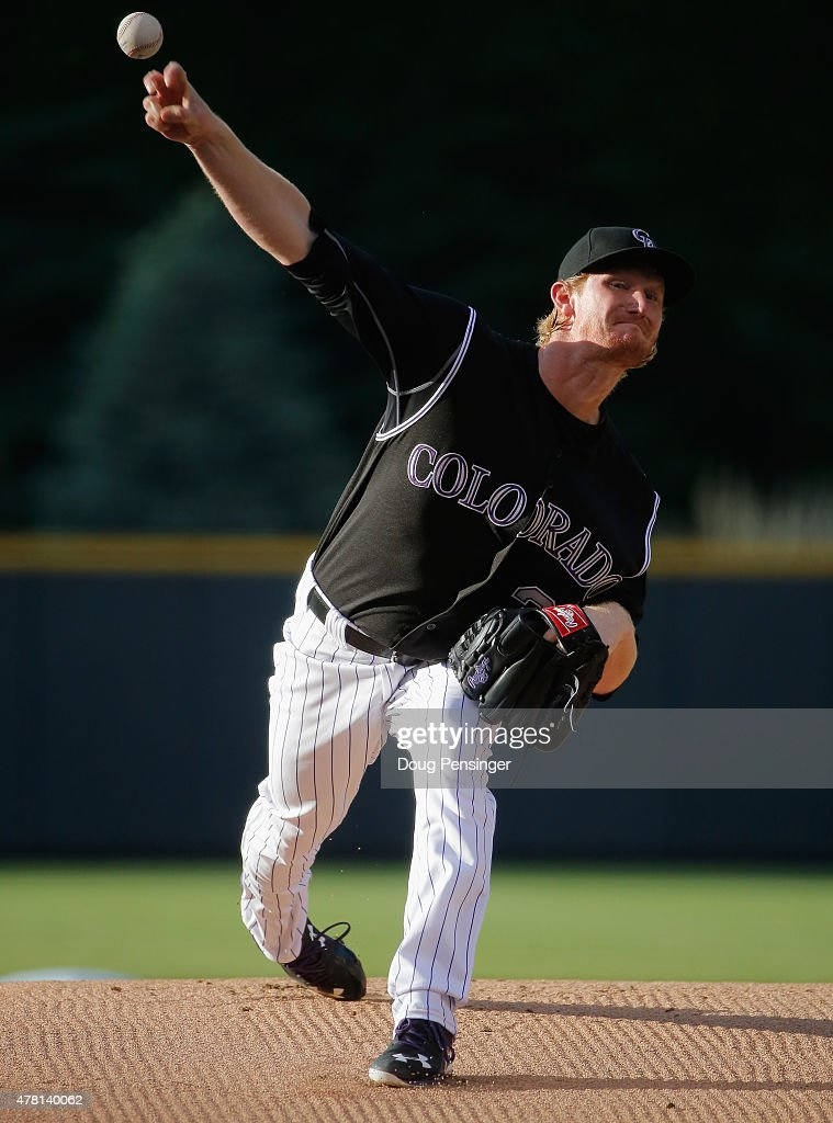 Starting pitcher Eddie Butler #31 of the Colorado Rockies delivers against the Miami Marlins at Coors Field on June 5, 2015 in Denver, Colorado.