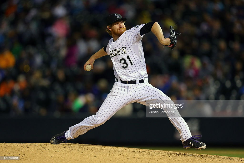 Starting pitcher Eddie Butler #31 of the Colorado Rockies delivers to home plate during the fourth inning against the Los Angeles Dodgers at Coors Field on May 8, 2015 in Denver, Colorado.