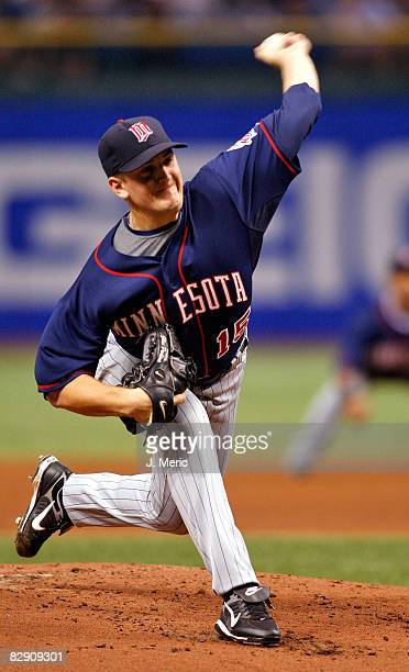 Starting pitcher Glen Perkins of the Minnesota Twins lasted only two thirds of the first inning against the Tampa Bay Rays during the game on...