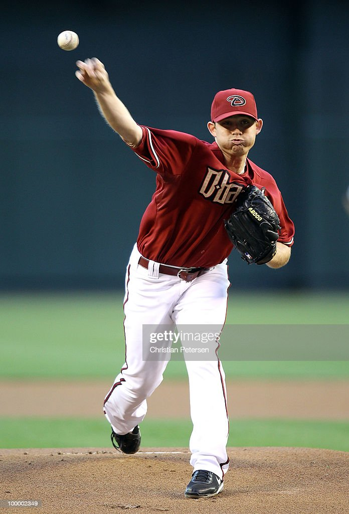 Starting pitcher Ian Kennedy #31 of the Arizona Diamondbacks pitches against the San Francisco Giants during the Major League Baseball game at Chase Field on May 19, 2010 in Phoenix, Arizona.