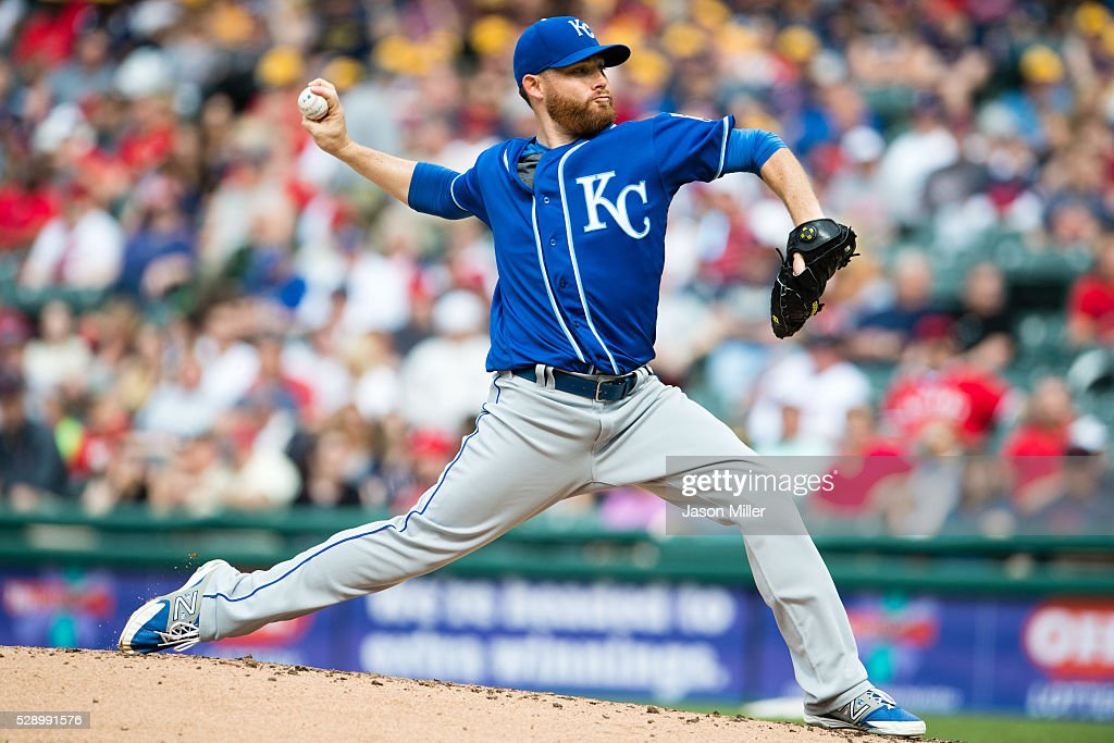 Starting pitcher Ian Kennedy #31 of the Kansas City Royals pitches during the first inning against the Cleveland Indians at Progressive Field on May 7, 2016 in Cleveland, Ohio.