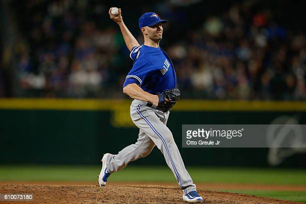 Starting pitcher JA Happ of the Toronto Blue Jays pitches against the Seattle Mariners at Safeco Field on September 20 2016 in Seattle Washington