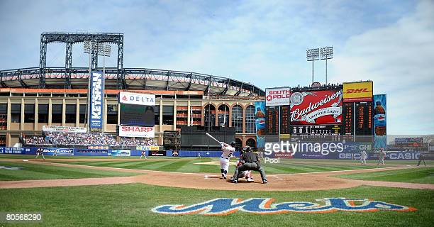 Starting pitcher Jamie Moyer of the Philadelphia Phillies deals against David Wright of the New York Mets in the first inning of the last home opener...