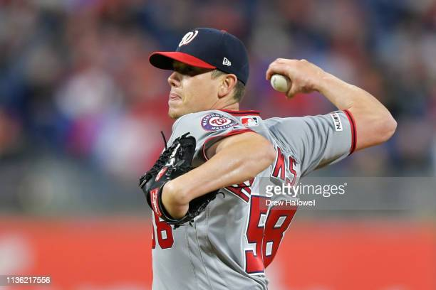 Starting pitcher Jeremy Hellickson of the Washington Nationals delivers a pitch in the third inning against the Philadelphia Phillies at Citizens...
