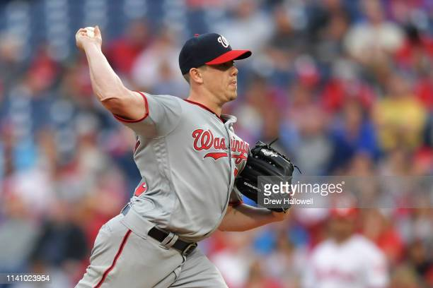 Starting pitcher Jeremy Hellickson of the Washington Nationals delivers a pitch in the first inning against the Philadelphia Phillies at Citizens...