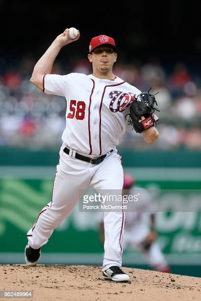 Starting pitcher Jeremy Hellickson of the Washington Nationals throws a pitch in the second inning against the Arizona Diamondbacks at Nationals Park...