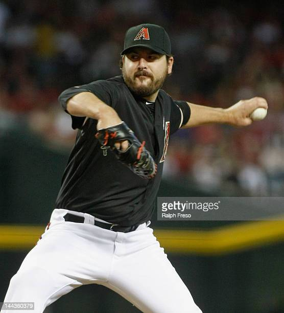 Starting pitcher Joe Saunders of the Arizona Diamondbacks delivers a pitch against the San Francisco Giants during the first inning of a MLB game at...