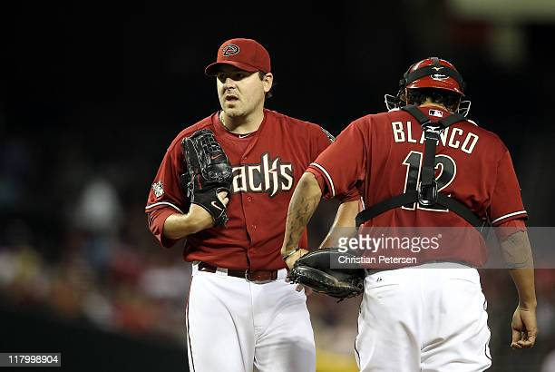 Starting pitcher Joe Saunders of the Arizona Diamondbacks during the Major League Baseball game against the San Francisco Giants at Chase Field on...