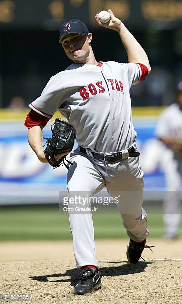 Starting Pitcher Jon Lester of the Boston Red Sox pitches against the Seattle Mariners on July 23 2006 at Safeco Field in Seattle Washington The...