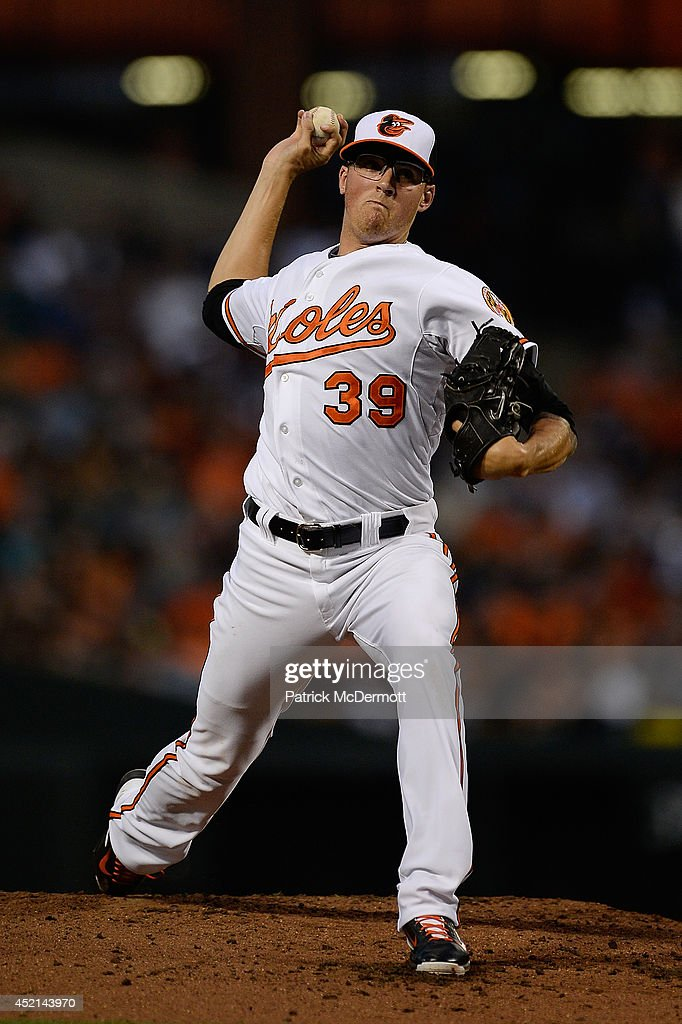 Starting pitcher Kevin Gausman #39 of the Baltimore Orioles throws a pitch in the second inning against the New York Yankees during a game at Oriole Park at Camden Yards on July 13, 2014 in Baltimore, Maryland.