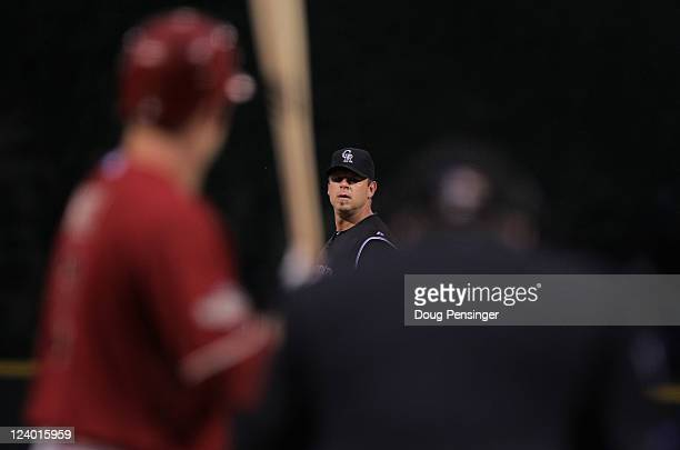 Starting pitcher Kevin Millwood of the Colorado Rockies delivers against the Arizona Diamondbacks at Coors Field on September 7, 2011 in Denver,...