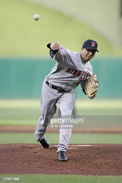 Starting pitcher Kyle Lohse of the Minnesota Twins took the loss during a game against the Kansas City Royals at Kauffman Stadium in Kansas City...