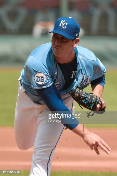Starting pitcher Matt Harvey of the Kansas City Royals throws in the first inning against the Chicago White Sox at Kauffman Stadium on September 6,...