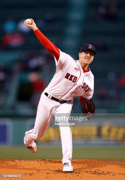 Starting pitcher Nick Pivetta of the Boston Red Sox throws against the Seattle Mariners during the second inning at Fenway Park on April 22, 2021 in...
