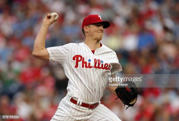 Starting pitcher Nick Pivetta of the Philadelphia Phillies throws a pitch in the second inning during a game against the St Louis Cardinals at...