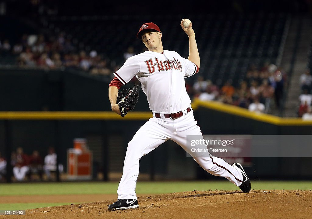 Starting pitcher Patrick Corbin #46 of the Arizona Diamondbacks pitches against the Colorado Rockies during the MLB game at Chase Field on October 2, 2012 in Phoenix, Arizona.